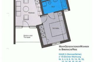 Wohnung kaufen in Ritter-Von-Essendorf-Straße, 88400 Biberach, 2,5 Zimmer Dachgeschosswohnung behindertengerecht komplett mit Tiefgaragen Stellplatz