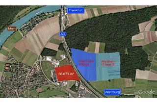Grundstück zu kaufen in 97877 Wertheim, Wertheim Village: Zu erwerbende Gewerbehalle noch nicht vorhanden, mit dem letzten Gewerbegrundstück liegt direkt neben der A3 WÜ-FRA