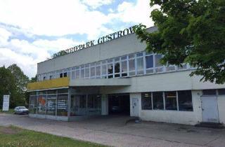 Gewerbeimmobilie mieten in Rövertannen 21, 18273 Güstrow, 1.300 m² Gewerbeflächen (Kfz-Werkstatt) und Parkplatz (1.500m²) zur Vermietung