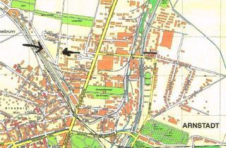Grundstück zu kaufen in 99310 Arnstadt, Großes Baugrundstück am Hauptbahnhof in Arnstadt zu verkaufen