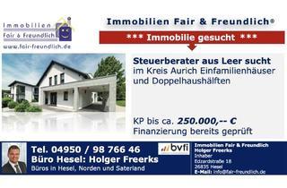 Einfamilienhaus kaufen in 26624 Südbrookmerland, Südbrookmerland - STEUERBERATER SUCHT EFH ODER DHH IN LEER ODER UMGEBUNG