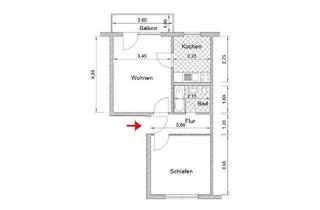 Wohnung mieten in Dr.-S.-Allende-Straße 11, 19322 Wittenberge, Wohnen im sanierten Neubau - 2-Zimmer-Wohnung mit Balkon