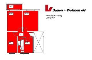 Wohnung mieten in 06466 Gatersleben, Schön gelegene 3 Zimmer-Wohnung in Gatersleben komplett mit Möbeln und Einbauküche