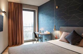 Wohnung mieten in 64295 Darmstadt, Design Serviced Luxury Apartment in Darmstadt, Vitra Lounge, Tiefgaragen, Großes Rooftop